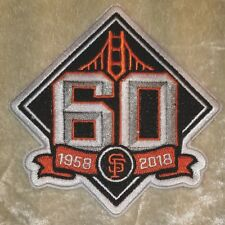 """SF Giants 60th Anniversary 3.5"""" Iron On Embroidered Sleeve Patch"""