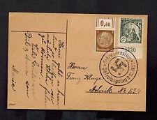 1938 Schreckenstein Germany Sudetenland Provisional Postcard Cover