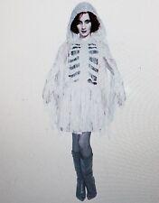 Halloween Costume Mummy White Dress Hooded Cape Totally Ghoul Medium NEW