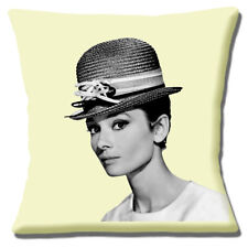 Audrey Hepburn Cushion Cover Vintage American Actress 16 inch 40 cm