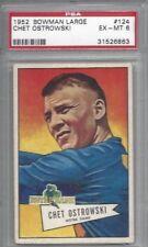 1952 Bowman Large football card #124 Chet Ostrowski Notre Dame graded PSA 6