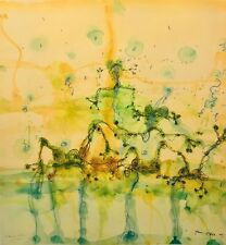 """JOHN OLSEN """"Morning at the Lily Pond"""" Signed, Limited Edition Digital Lithograph"""