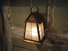 Lot of 4 Solid Brass Light Fixture Sconce  Porch Antique Lantern 18th century