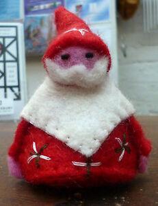 SALE Father Christmas Fair Trade Ethical Felt Wool Santa Family Gift CLEARANCE