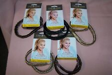 Hair2Wear Christie Brinkley Collection Fishtail Headband NEW Color: Medium Brown