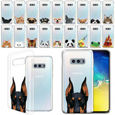 "For Samsung Galaxy S10E G970 5.8"" Animal Clear Tpu Soft Case Phone Cover Skin"