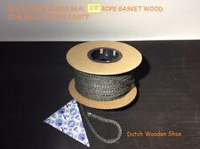 "3/8"" Black  Gasket rope 50 Feet Outdoor Stove Pellet wood Stove Furnace Boiler."