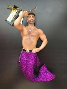 December Diamonds Who's Your Daddy Merman 55-55082 Ornament 2018 Hand Painted