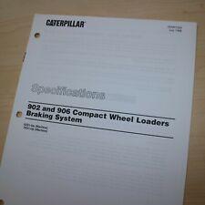 Caterpillar 902 906 Wheel Loader Braking System Specification Service Manual Cat