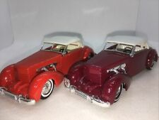 matchbox models of yesteryear 2 x Y18 Cord 812 Variations Issue 3* And 7*
