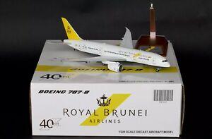 "Jc Wings 1:200 Royal Brunei Boeing 787-8 ""40th Anniversary"" XX2442 Diecast Model"