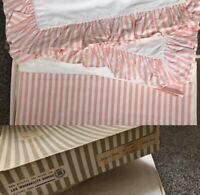 Vintage 1950s Bed Sheets Pillowcases Boxed Frilled 50s Unused Dowry Linen