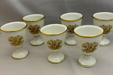Antique W.G. & Co William Guérin Limoges 6 x Eggcups Monogrammed MW
