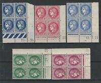 FRANCOBOLLI - 1938/39 FRANCIA TIPO CERERE 5 QUARTINE MNH E/1704