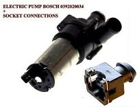 Universal additional electric water pump + connector plug BOSCH 0392020034 NEW