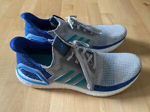Adidas Ultra Boost 19 Laufschuhe Grau-Blau Größe 47 ⅓ wenig getragen
