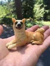 "Adorable Akita Dog Statue 3.5"" Long Collectible Figurine New Canine Dogs"