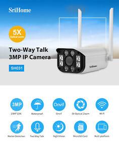 3.0MP IP Camera 5X Optical Zoom Waterproof Outdoor CCTV Wifi Camera H.265 Onvif