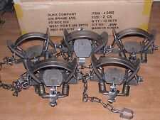 5 DUKE #2 COIL SPRING TRAPS RACCOON COYOTE BOBCAT FOX LYNX OTTER NEW SALE