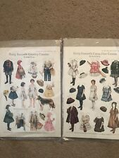 2setBetty Bonnets Country Cousins And Camp Fire Cousin Paper Dolls Uncut Vintage