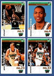 1998-99 VANCOUVER GRIZZLIES NBA BASKETBALL LOT OF 18 COLOR POSTCARDS ABDUR-RAHIM