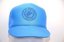 City of Scottsdale Light Blue Foam Mesh Snapback Otto Trucker Hat Vintage 1980s
