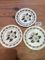 "3 Royal Worcester Bernina 15cm 6"" Saucers For 2 Handled Soup Cups Replace/Spares"