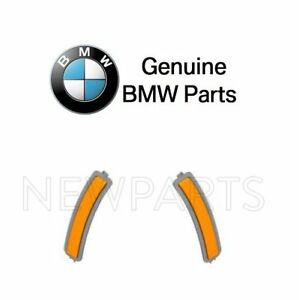 For BMW G30 5-Series Pair Set Of Front Left+Right Reflectors Bumper Cover Yellow