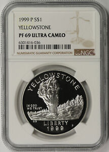 1999-P Yellowstone Modern Commemorative Silver $1 Proof PF 69 Ultra Cameo NGC