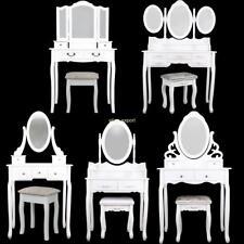 Coiffeuse Commode Table De Cosmétiques Vintage Tabouret Blanc Chambre à coucher
