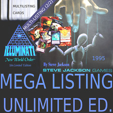 1995 ILLUMINATI UNLIMITED EDITION INWO Select CARD GAME MEGA LISTING 2/2 OOP CCG