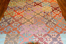 "Vintage Early Mid Century Feedsack Novelty Prints QUILT TOP  88x73"" Handpieced"