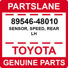 89546-48010 Toyota OEM Genuine SENSOR, SPEED, REAR LH