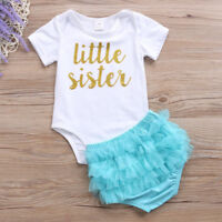 Baby Girls Christmas Outfit Tops Romper Tulle/Bow Shorts Newborn Clothes 4 types