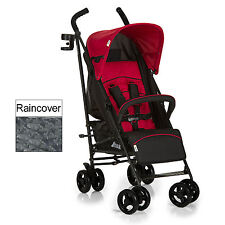 NEW HAUCK TANGO BLACK / RED SPEED PLUS PUSHCHAIR BABY STROLLER BUGGY & RAINCOVER