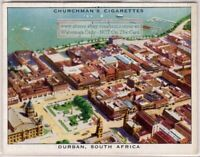 Durban Natal South Africa Seen From Air 1930s Trade Ad Card