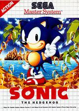 A4 póster de juego de Sega Master System-Sonic El Erizo (Impresión de Foto Arte Para Juegos