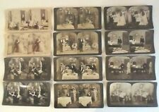 12 Vintage Romantic Stereoview cards / Early 1900s / Somewhat Risque