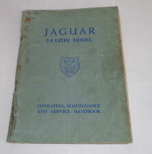 Instrucciones Servicio/Owner ´S Manual Jaguar 2.4 Litro Mark 1 Mk i,Año F.