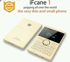 IFcane E1: (Gold) Mini Cell Card Mobile Phone Student Version GSM FM Bluetooth