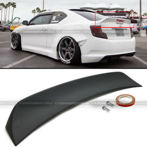 Fit 11-16 Scion TC RS Style Primer Black ABS Plastic Rear Trunk Wing Spoiler