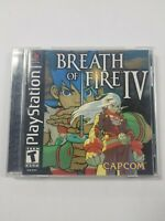 Breath of Fire IV Complete CIB Black Label Playstation 1 PS1