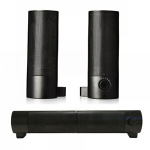 PC Lautsprecher 2.0 5W Soundbar Multimedia Boxen für Desktop PC Computer Laptop