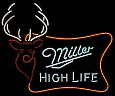 Neon Light Miller High Life Beer Bar Pub Party Store Room Wall Decor Signs 17x14