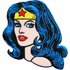 Wonder Woman Head Comics Super Hero Stars DC Comics Girls Iron-On Patches #C039