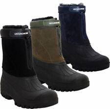 MENS SNOW WINTER GRIP MUCKER WELLINGTON BOOTS WARM THERMAL FUR LINED SHOES SIZES