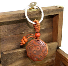 Feng Shui  Peach wood Bagua /Pakua Amulet Key chain charm or handbag hanging