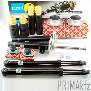4x BILSTEIN Amortisseurs A Pression de Gaz Et Febi Palier Jambe BMW 3er E46