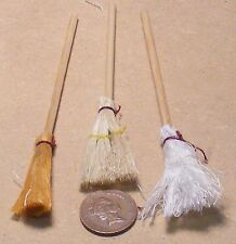 1:12 Scale Mop & Broom Set Dolls House Fairy Witch Kitchen Cleaning Accessory 51