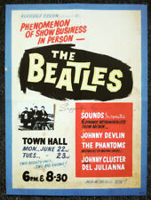 THE BEATLES REPRO 1964 NEW ZEALAND CONCERT POSTER . KERRIDGE ODEON 22 & 23 JUNE